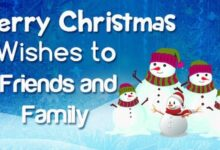 Photo of Best Merry Christmas Wishes, Messages to Friends and Family