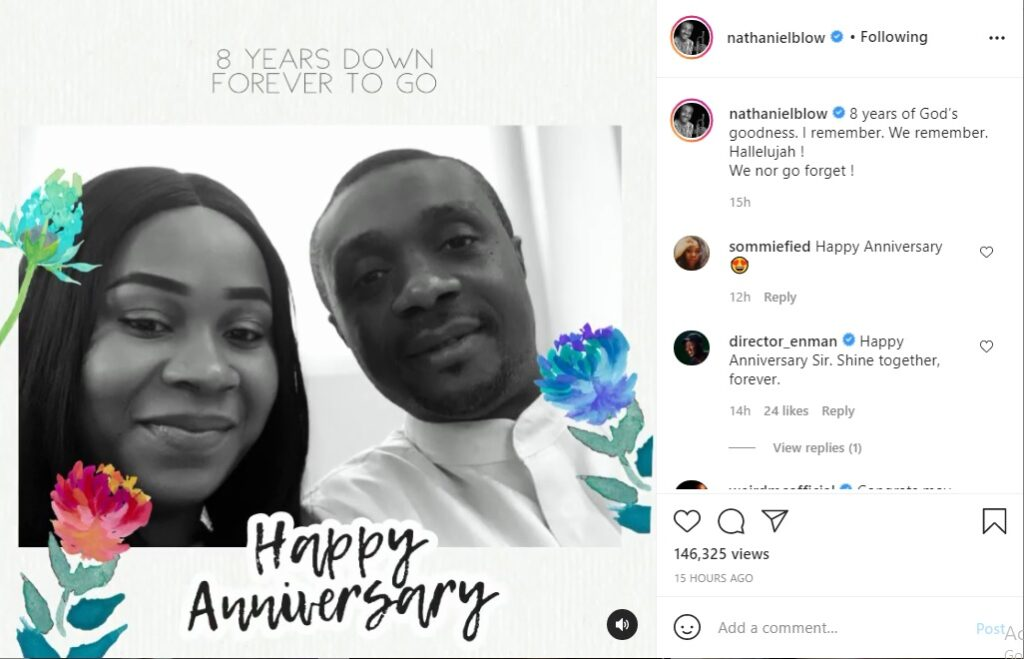 Nathaniel Bassey and Wife Celebrate 8th Wedding Anniversary