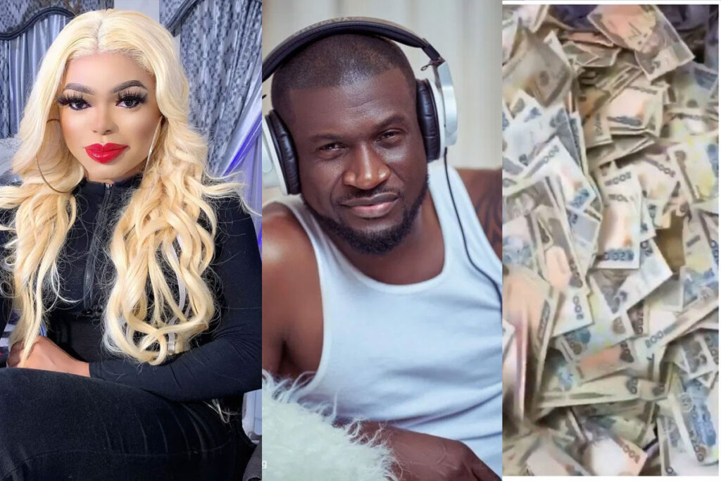 See Peter of Psquare and others reactions as Bobrisky shares bank account balance of almost N1Billion