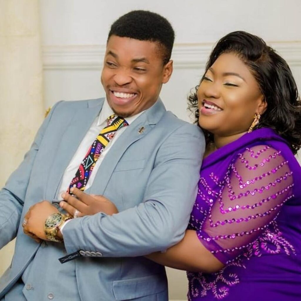 See the Loving message from Comedian Woli Agba to his wife as they celebrate their wedding anniversary