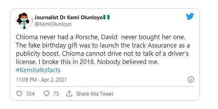 journalist Kemi Olunloyo tweet